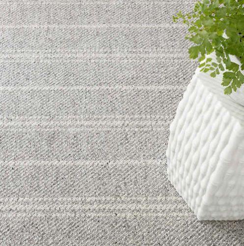 Melange Stripe Grey & Ivory Indoor/Outdoor Rug