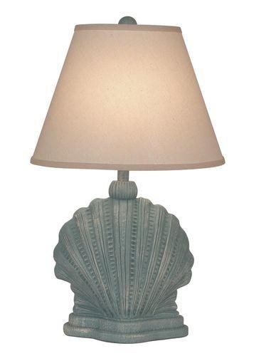 Mini Scallop Shell Table Lamp - Weathered Atlantic Grey
