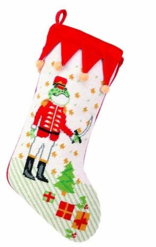 Nutcracker Frog Christmas Stocking<font color =a8bb35> Sold out</font>