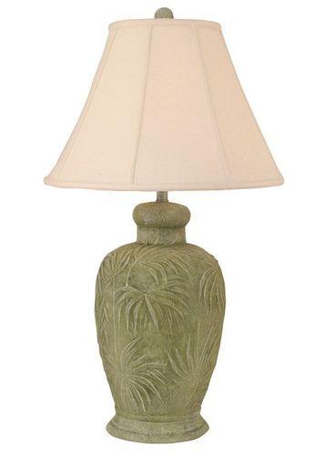 Palm Leaf Pot Table Lamp