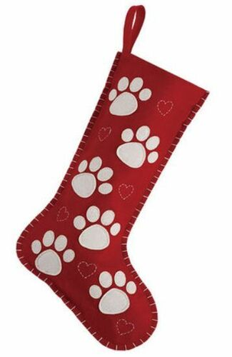 Paw Print Felt Christmas Stocking<font color =a8bb35> Sold out</font>