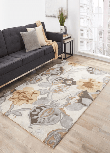 Petal Pusher Taupe Hand Tufted Rug