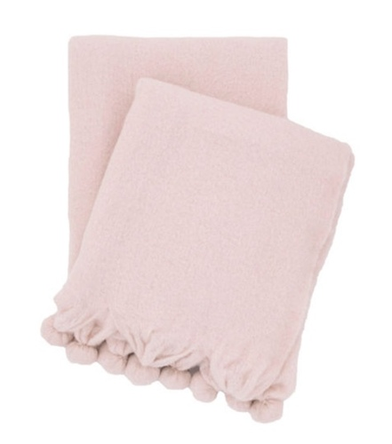 Pom Pom Pink Slipper Throw