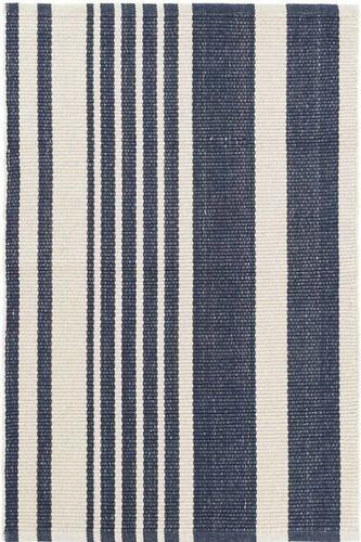 Portland Stripe Woven Cotton Rug<font color=a8bb35> NEW</font>