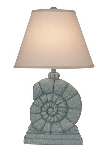 Weathered Atlantic Grey Sea Snail Table Lamp