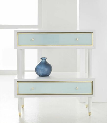 Seaglass Two Tier Nightstand *Backorder