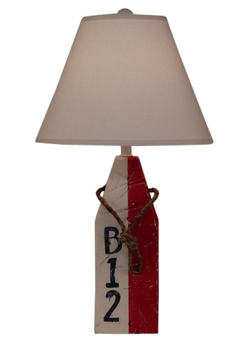 Red Rectangle Buoy Table Lamp
