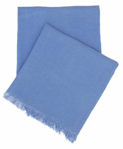 Stone Washed Linen Throw French Blue