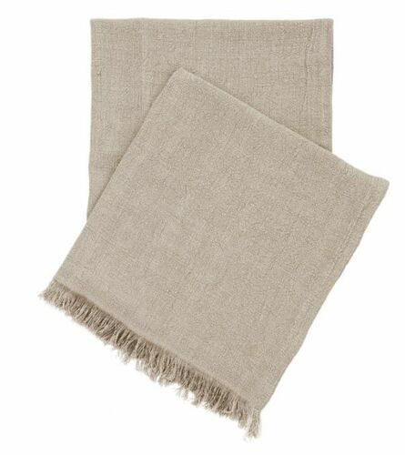 Stone Washed Linen Throw Natural Beige <font color=cf2317> 20% Off</font>