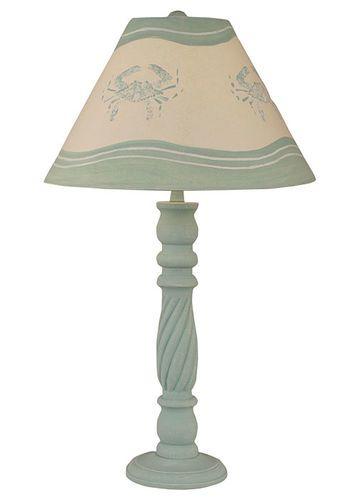 Shaded Cove Swirl TABLE LAMP w/ Crab Shade