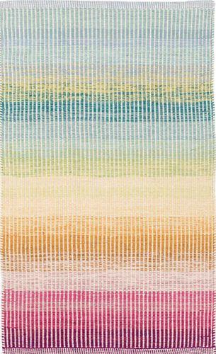 Watercolor Horizon Woven Cotton Rug