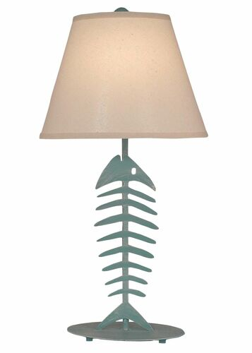 Weathered Turquoise Sea Bonefish Table Lamp