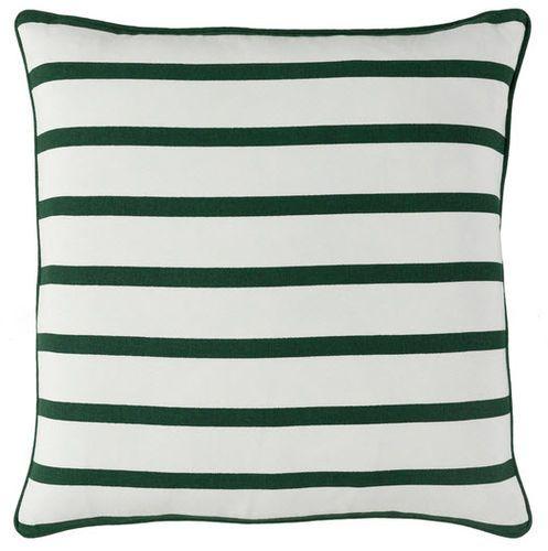 White With Green Stripe Pillow
