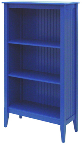 Bead Board Bookcase with Three Shelves
