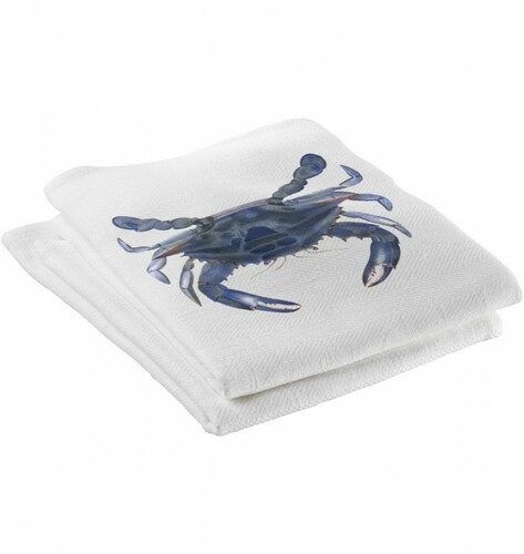 Blue Crab Kitchen Towels Set of Four