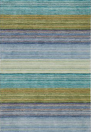 Brushstroke Rug in Blue