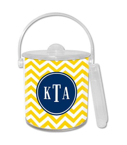 Chevron Sunflower Ice Bucket