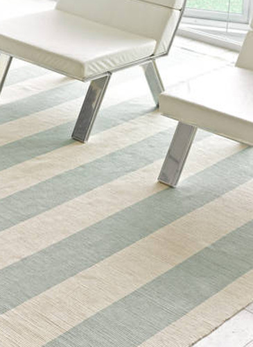 Yacht Stripe Ocean Cotton Rug