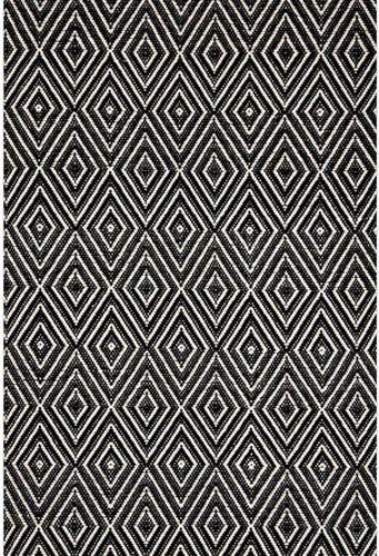 Diamond Black and Ivory Indoor/Outdoor Rug