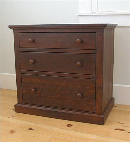 Cottage 3-drawer Bedside Table