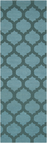 Frontier Teal & Dark Green Classic Flat Pile Rug