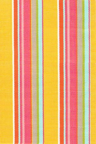 Dash and Albert Happy Yellow Stripe Indoor/Outdoor Rug