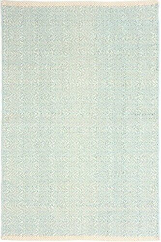Herringbone Sky Cotton Woven Rug