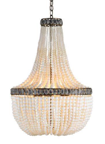 Ivory Beaded Empire Chandelier