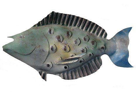 Juvenile Bluespine Unicorn Fish Metal Art