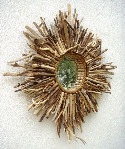 Large Baja Sunburst Style Mirror