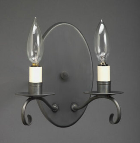Large Oval 2-Lite  Wall Sconce
