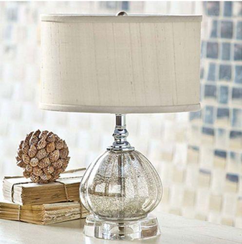 Antique Mercury Glass Clove Mini Lamp