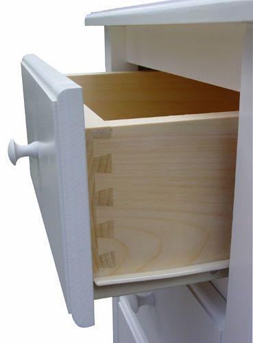 One Drawer Nightstand with Door