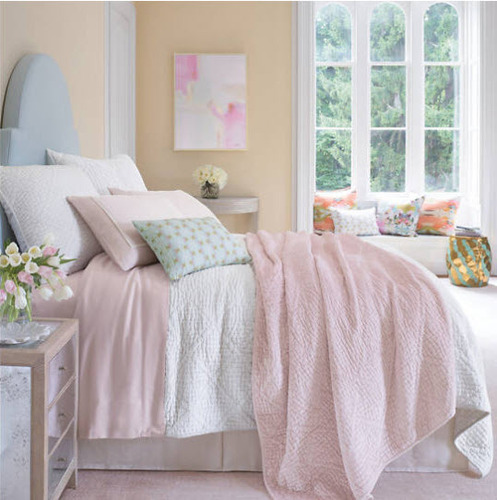 Pariseinne Velvet Slipper Pink Quilt