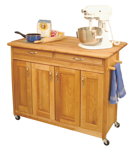 The Edgartown Kitchen Island with Drop Leaf