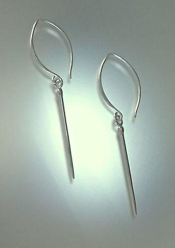 Urchin Spike Silver Earring