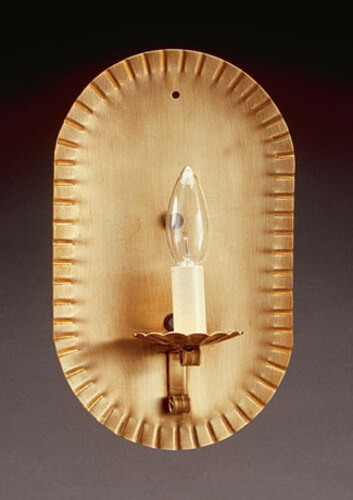 Wall Sconce with Crimp Oval Sides