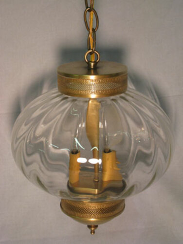 10 Round Onion Hanging Light Fixture with Galley
