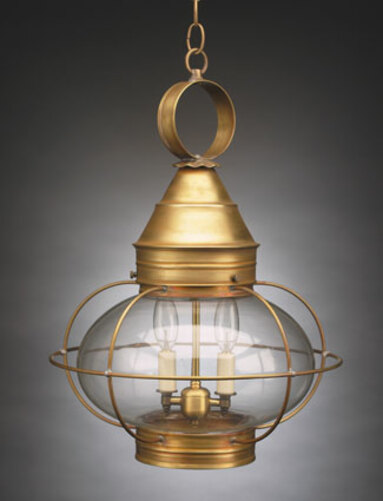 15 Onion Hanging Light Fixture - Caged