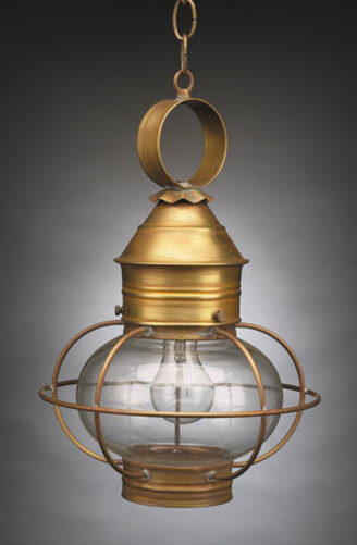 11 Onion Hanging Light Fixture - Caged