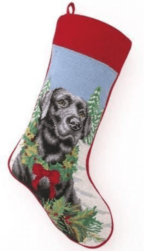 Black Lab Christmas Stocking<font color =a8bb35> Sold out</font>