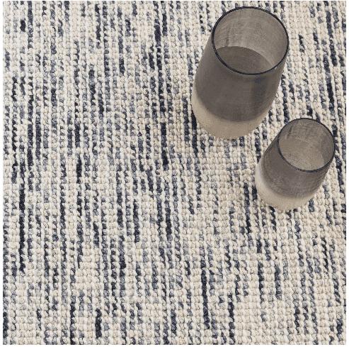 Lanka Blue Woven Wool Rug