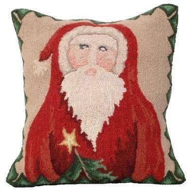 Santa Star Tree Christmas Pillow