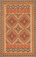 Reed Kilim Woven Wool Rug