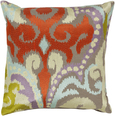 Rust and Lilac Ikat Pillow