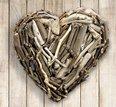 Hanging Driftwood Heart