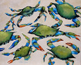 Blue Crabs On Beach Giclee