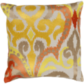 Sunflower/Burnt Orange Ikat Pillow