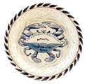 Blue Crab Dessert/Bread Plate - Set of 4
