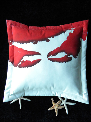 Attack of the Crab Claw Indoor/Outdoor Pillow
